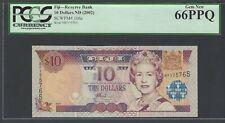 Fiji 10 Dollars ND (2002)  P 106a  Uncirculated Grade 66