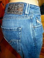 Auth Men's DIESEL LARKEE REGULAR-STRAIGHT SR8KZ button fly dark jeans-31 x 33