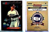 Charles Nagy Signed 1992 Bowman #566 Card Cleveland Indians Auto Autograph