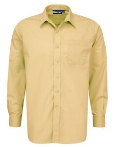 """School Uniform Shirts Red / Yellow / Green / Tussore - Adult Sizes 14"""" to 17.5"""""""