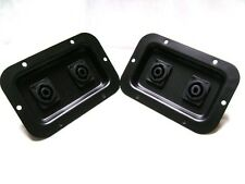 (2) Two  Jack Plates with Dual SpeakON NL4 for PA Speakers / Cabinets