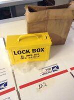 """New Brady PKL304 Part 65672 Group Lock Box 9"""" X 3 1/2"""" X 6 Warranty Fast Ship!"""