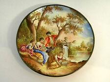 ANTIQUE SILVER & VIENNESE ENAMEL PLATE VIENNA, AUSTRIA c. 1880