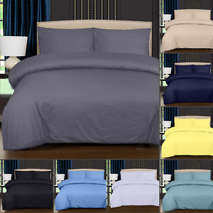 4 PCS Duvet Cover Set With Fitted Sheet & Pillowcase 400 TC 100% Egyptian Cotton