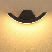 Outdoor Lighting 8W LED Wall Light Fixture Waterproof Crescent Moon Lamp Balcony