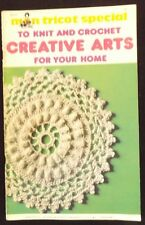 Vintage Mon Tricot Special Knit & Crochet Home Decor Pattern WorkBook No. OD11