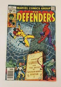 The Defenders #61, Jul 1978, VFN, Lunatik, Spider-Man app (Mark's comics)