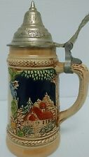 "West German Mini Beer Stein,Authentic Gerz 6 1/2"" tall unique"