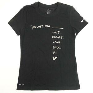 women\u2019s slim fit t-shirt black shirt Courage tshirt