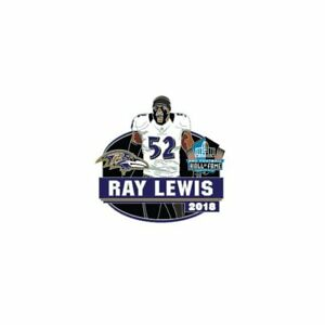RAY LEWIS BALTIMORE RAVENS 2018 HALL OF FAME PIN HOF #52 NEW