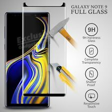 New 3D Samsung Galaxy Note 9 100% Genuine Tempered Glass Screen Protector Black