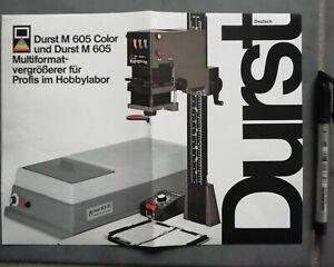 DURST M 605 COLOR WERBUNG PROSPEKT BROSCHÜRE BROCHURE