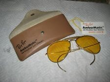 B&L RAY BAN  GP ALL WEATHER AMBERMATIC AVIATORS SUNGLASSES original tag