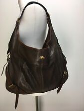 Burberry Prorsum catwalk dark brown iguana skin leather large hobo bag