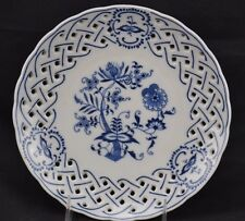 Blue Onion Reticulated Plate Unmarked Plate Holder on Back