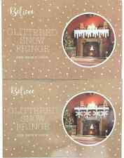 Christmas Glittered Snow Fringe Fireplace Window Winter Wonderland Decoration x2