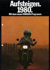 YAMAHA 1980 prospectus XS 850 TY 250 Bop XS 650 DT 400 FS moto Brochure moto