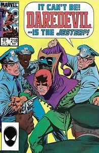 Daredevil Comic 218 Copper Age First Print 1985 Denny O'Neil Buscema Garvey