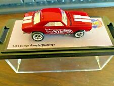 Hot Wheels Custom Camaro in Red CS Customs LOCK DOWN Very rare 1 of 1  Prototype