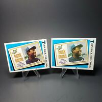 2x LOT: 1974 Hank Aaron Topps Turn Back The Clock - New All-time Home Run King