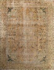 Antique Geometric Muted Color 9x12 Tabriz Persian Oriental Area Rug 12' 5 x 9' 5
