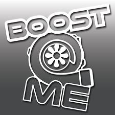 Me Boost Turbo Divertido Coche Ventana Parachoques Vinilo Decal Sticker     Dub   Drift JDM