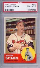 1963 Topps # 320 Warren Spahn Braves HOF NM MT PSA 8