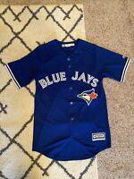 NEW Mens Majestic MLB 2016 Toronto Blue Jays JERSEY BUTTON Stitched RARE SZ S