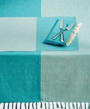"""Homewear Durham Teal Tablecloth - Spring Collection - 70"""" Round - New"""