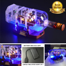 LED Light Kit For LEGO 21313 ship in a Bottle Set Lighting Bricks + Battery box