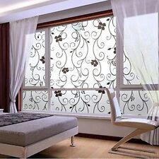Home Decor Room Badroom Flower Glass Window Door Privacy Film Glass Sticker
