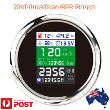 Digital LED Multifunction 6 in 1 Gauge Meter Speedometer Voltmeter Car Marine