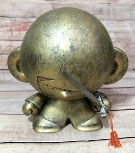 "House Of Liu Shaolin 6"" Bronze Di Di Crazy Label Vinyl Kidrobot Monk Rotofugi"