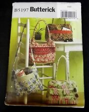 Butterick Sewing Pattern B5197 Purse Bags Handbags Totes Quilting New Uncut