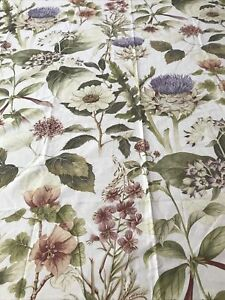 POTTERY BARN Thistle SHOWER CURTAIN.