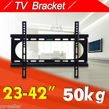 "New 23""- 42"" Universal LED LCD Plasma TV Tilt Wall Mount Slimline Bracket Black"