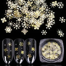 Snowflake Nail Sequins Manicure Tips  Gold Metal Slices Nail Art Glitter