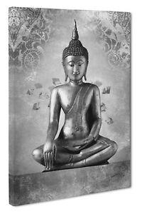 Buddha Canvas Picture Print Wall Art Inspirational Meditation Size A1 51x76cm