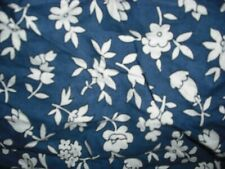 Pottery Barn Kids Pbk Twin Navy Blue Floral Flowers Bed Skirt Dust Ruffle