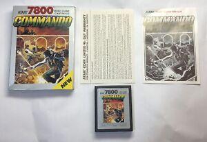 Commando Atari 7800 NTSC Complete CIB Registration Card CX7838
