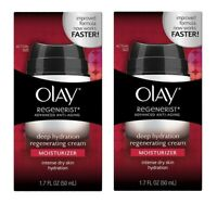 Olay Regenerist Anti Aging Deep Hydration Regenerating Cream 1.7 oz (2 Pack)