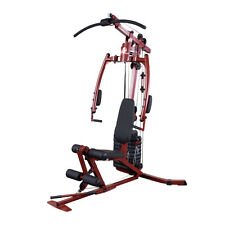 Best Fitness Sportsman Home Gym BFMG20 - Compact Cable Weight Machine Red Frame