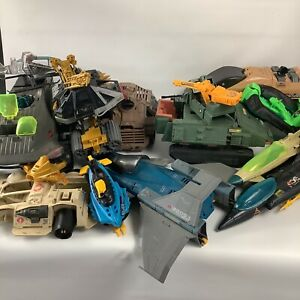Assorted GI Joe Lot Vehicles Random Pieces Incomplete Damaged Have Wear