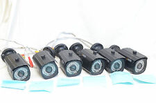 Six (6) Qsee Qm1201B 1000Tvl Indoor/Outdoor Cameras - Read As-Is Parts No Return