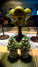 Fitz and Floyd Winter Garden  topiary salt and pepoer shakers Christmas