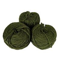 3 Cakes High Quality Knitting Bulky Blanket Yarn Olive Green 100% Acrylic 15.5oz