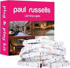 Strip 220V 240V 5050 SMD RGB Remote 5M RGB IP20 44 Keys Christmas Light plug UK