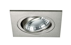 Recessed Spotlight Squared To LED Modern Adjustable Silver