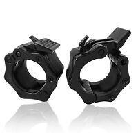 UK Warrior 50 mm Olympic Barbell Collars PAIR Spring Collars Dumbbell Spin lock