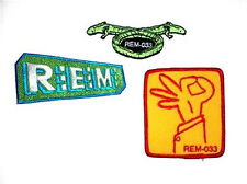 Rem R.E.M. Embroidered 3 Patch Set New Official Band Merch